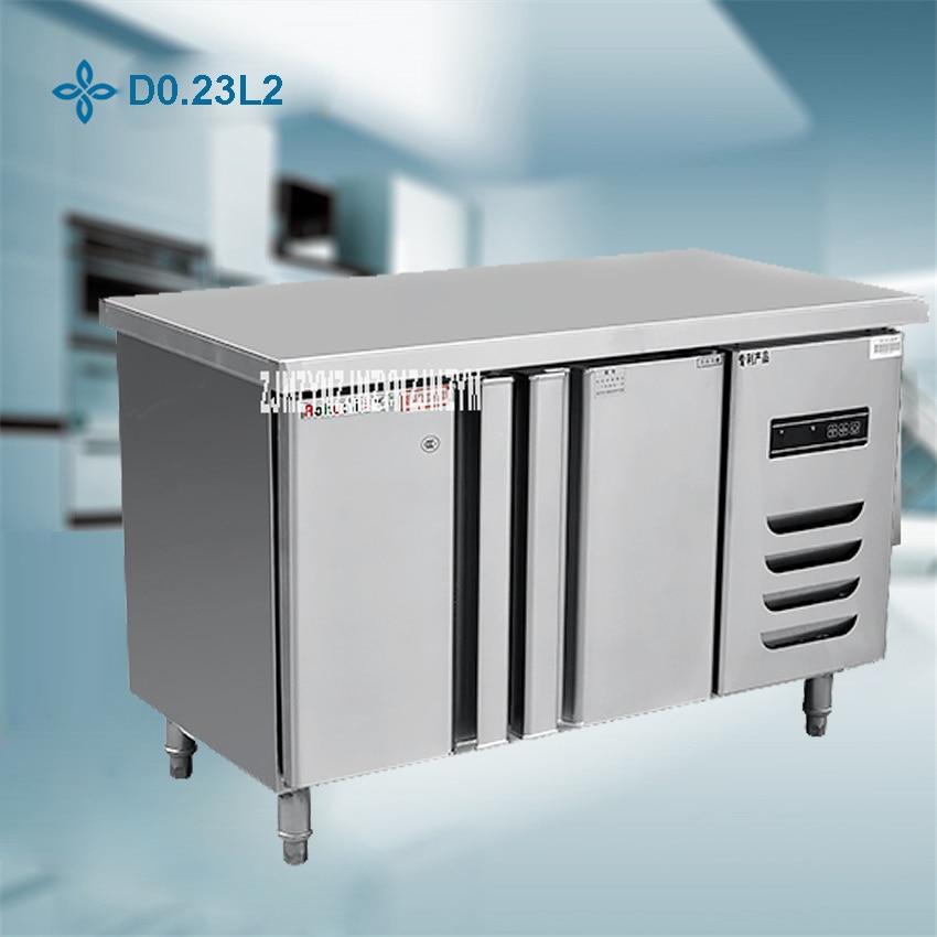 1PC Stainless Steel Kitchen Under-Counter Worktop Commercial Cabinet Refrigerator Freezer Cooler Storage Fridge Machine