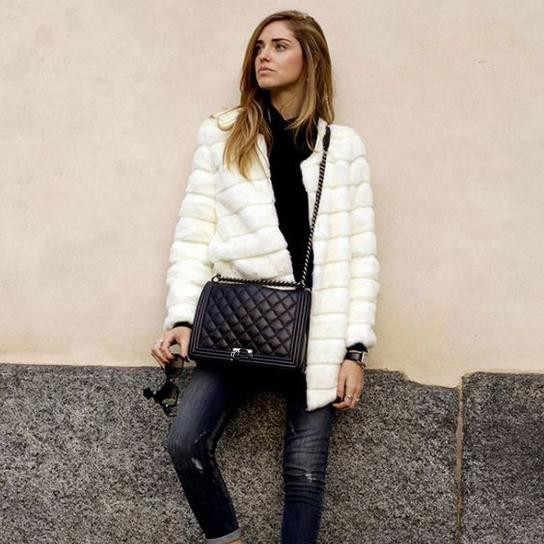 Yüksek kalite en 2018 2018 kış kadın faux kürk ceket uzun kollu Tavşan tilki kürk Kürklü ceket siyah Mavi beyaz dış giyim WT69