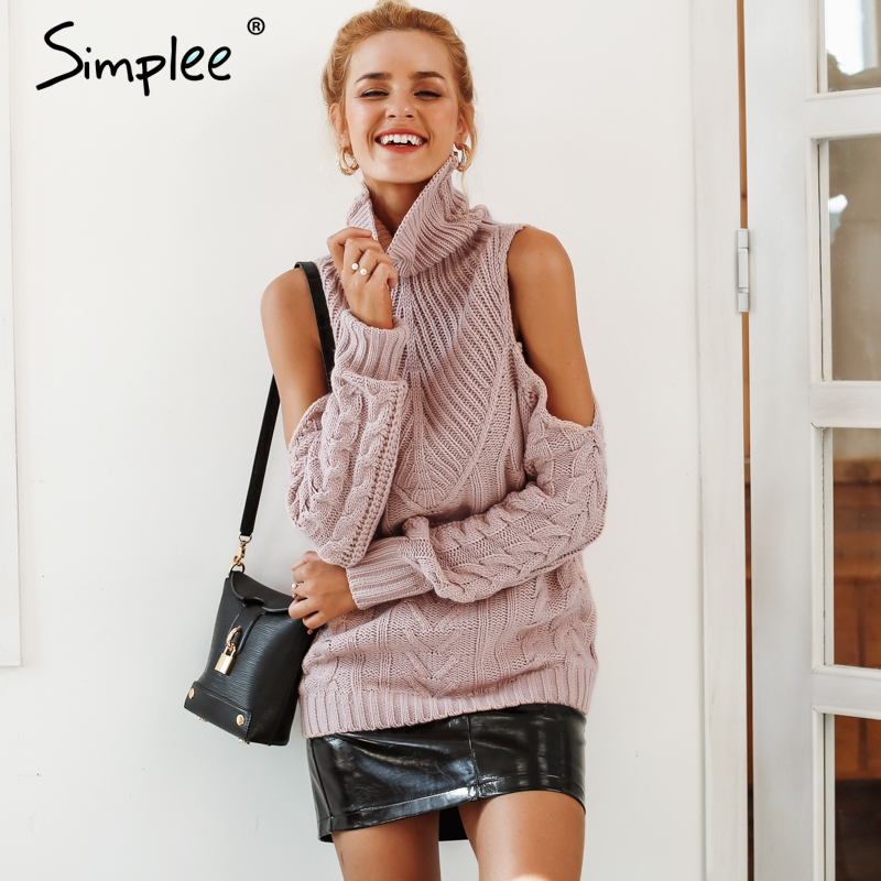 Simplee Long Sleeve Vintage Sexy Sweater S18ST0311