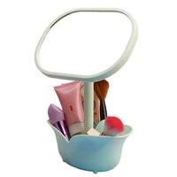 Складной простой столе зеркало для макияжа милый цветок туалетный зеркало косметическое зеркало моды односторонний Площади Косметическое...