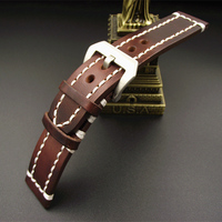 Wholesale 10PCS Lot High Quality 20MM 22MM 24MM Genuine Leather Handmade Watch Band Watch Strap GL091501