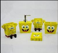 Fashion cartoon creative sponge baby resin bathroom bath 5 pieces of children 5 small snails