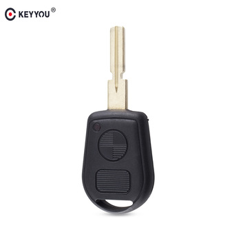 KEYYOU Remote 2 Buttton Key Case Cover For BMW E31 E32 E34 E36 E38 E39 E46 Z3 Replacement Car Key Shell image