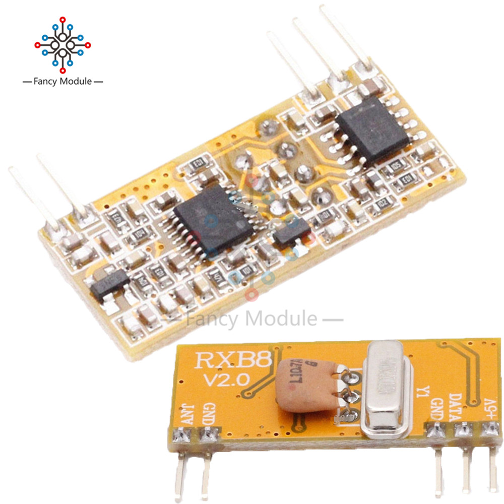 RXB8 433Mhz Superheterodyne Wireless <font><b>Receiver</b></font> Module Perfect for Arduino <font><b>AVR</b></font> image