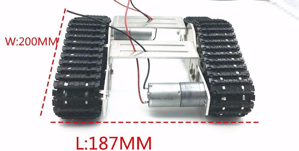 Plate-forme en alliage d'aluminium amortissement balance métal réservoir Robot châssis haute puissance ressort créatif bricolage chenille pour arduino r3