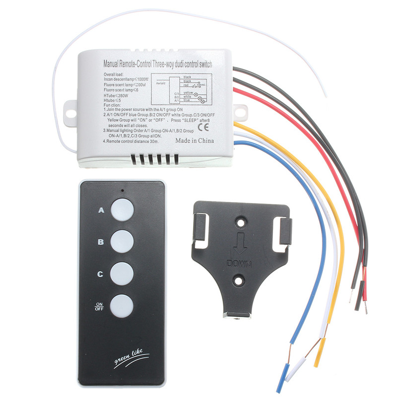220V Wireless ON/OFF 3 Way Lamp Light Remote Control Switch Receiver Transmitter Favorable wireless remote control switch 1 2 3ways on off 220v digital distance control switch receiver transmitter for led lamp light