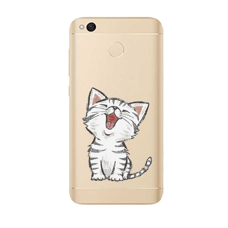 THREE-DIAO милый мягкий чехол из ТПУ с рисунком для Xiaomi Redmi 3 3S 4 4A 5 5Plus 5A 6 6A Pro Note 4 4X 5A Pro Тонкий силиконовый чехол с рисунком