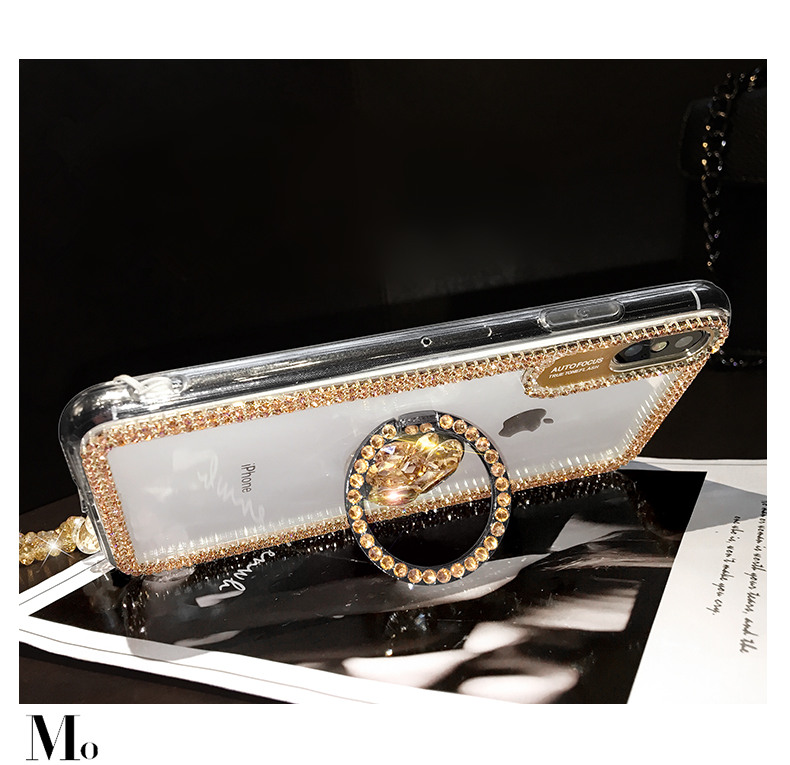 HTB1tLj2MQvoK1RjSZFwq6AiCFXap Luxury Bling Glitter With Finger Ring Case For iPhone X 8 7 6 6S Plus XR XS 11 Pro Max Cover Fashion Diamond Soft TPU Phone Case