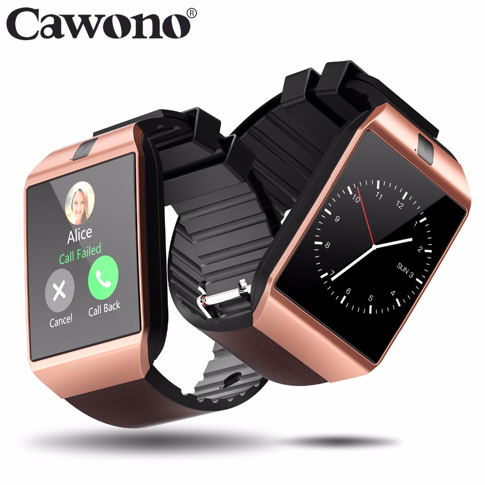 Cawono Bluetooth DZ09 Έξυπνο ρολόι Relogio Android Smartwatch Τηλεφωνική κλήση SIM TF Κάμερα για IOS iPhone Samsung HUAWEI VS Y1 Q18