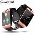 Cawono Bluetooth reloj inteligente android DZ09 Smart Watch Reloj android Reloj inteligente android Smartwach relojes inteligentes Llamada Telefónica smart watch mujer SIM TF Cámara para IOS iPhone HUAWEI VS kw88 Q18