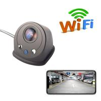 AUTOECHO WIFI Reversing Camera Night Vision Car Rear View Camera USB Mini Waterproof Driving Recorder For IPhone Android