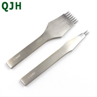 3 4mm High quality steel Prong Leather Craft Punching Hole Tool Leather Stitching Sewing Punches Stitching Punch Tools