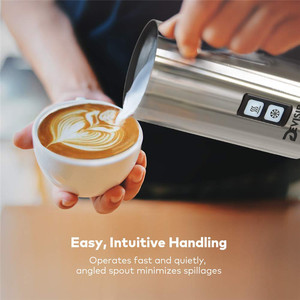 Image 3 - DEVISIB Automatic Milk Frother Stainless Steel Milk Steamer Electric Cappuccino Hot /Cold Coffee CE 1 Year Warranty Including