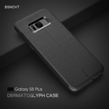 For Samsung Galaxy S8 Plus Case Soft Silicone Shockproof Leather Cover