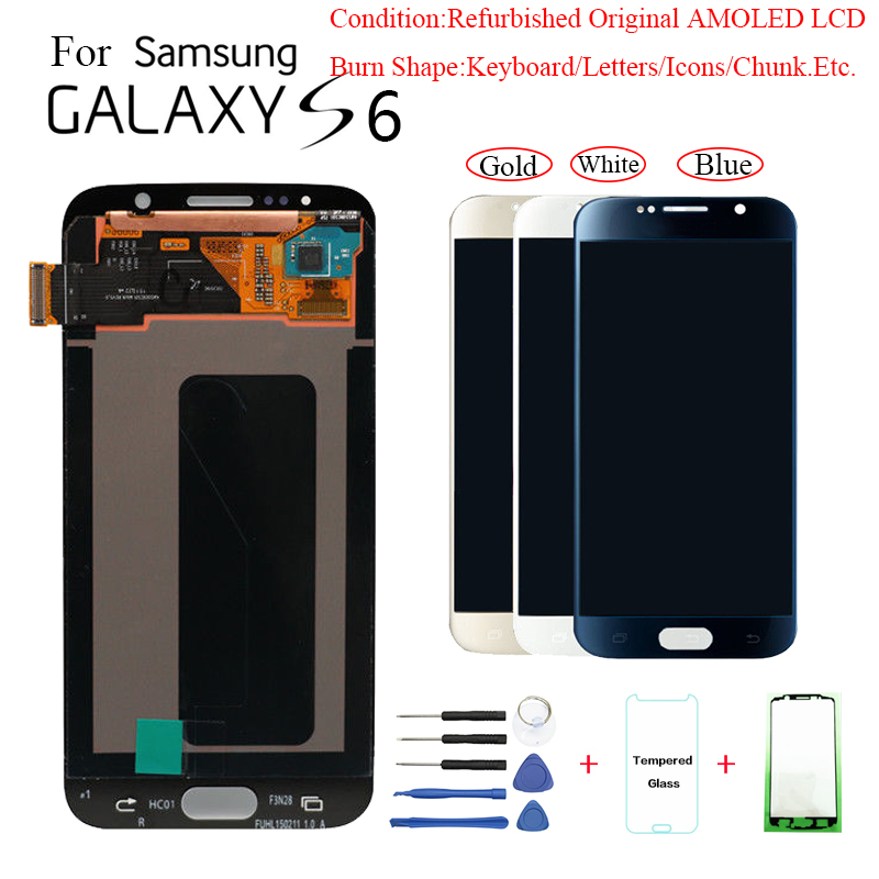 For <font><b>Samsung</b></font> S6 G920F G9200 <font><b>Display</b></font> Screen module for <font><b>Samsung</b></font> G920FD <font><b>G920</b></font> G920W8 lcd <font><b>display</b></font> screen replacement with Burn-Shadow image