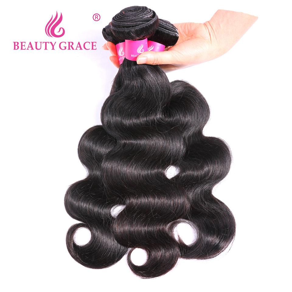 Indian Hair Body Wave 3 Bundle Deals Hair Weave Bundles Non Remy Body Wave Bundles Human Hair Bundles Extensions Beauty Grace