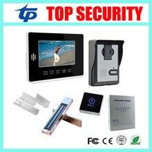 IP65 waterproof out door camera unit 7inch color screen video door phone wired door bell+power supply+lock+bracket+exit button