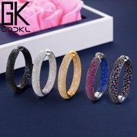 GODKI Luxury Round Circle Cubic Zirconia Statement Hoop Earrings For Women Wedding DUBAI Big Earring boucle d'oreille femme 2018