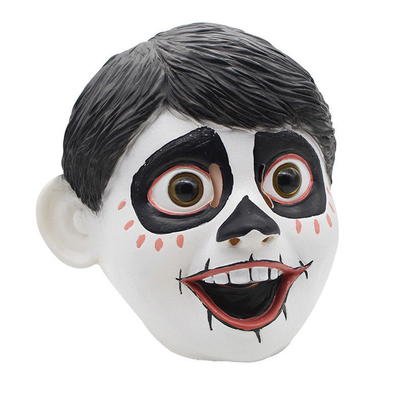 newest Realistic Funny Movie Anime CoCo Miguel Cosplay Full Head Latex Mask Fancy Ball Helmet Costume Props Masks