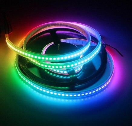 1 M WS2812 144 LED DC5V intégré IC étanche IP65 LED numérique rêve couleurs bande lumière WS2812 Pixel corde
