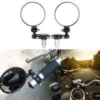 2 PCS Universal Motorcycle Rearview Mirror Modified Fodable Round Bar End Moto Side Mirrors For 22mm