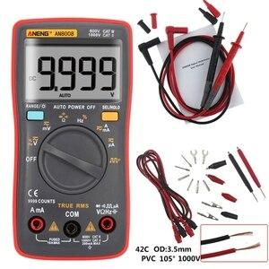 AN8008 True RMS LCD Digital Multimeter Voltmeter Amperemeter AC DC Spannung Strom