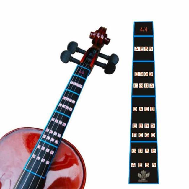 1 יחידות כינור 4/4 כינור עיסוק אצבע מדריך מדבקת Fretboard מחוון סמן מיקום