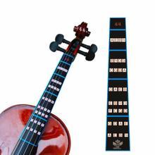 1 Pcs Violin 4/4 Practice Fiddle Finger Guide Sticker Fretboard Indicator Position Marker