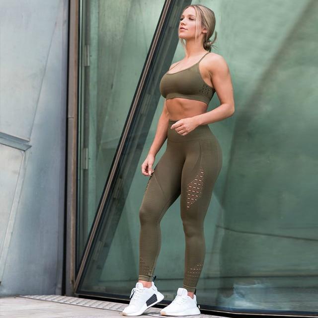 Hollow Leggings Push Up Fitness 5