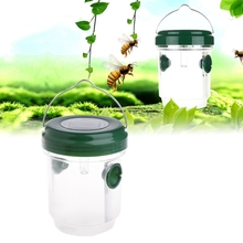 Plastic Pest Insect Catcher With Solar Powered Mosquito Killer Wasp Fly Trap LED Light YH-461478