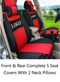Free Shipping Dedicated Car Seat Cover With Logo Wraparound Complete 5 Seat For VW Volkswagen SUV Tiguan Touareg