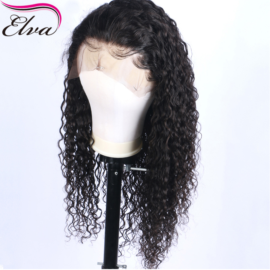 Curly Lace Front Human Hair Wigs For Black Women Brazilian Lace Front Wig Pre Plucked With Baby Hair Bleached Knots Elva Hair