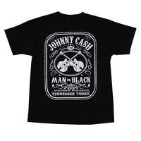 Gildan New Men Summer Tops Casuals Shirts New Fashion Johnny Cash Man In Black Printing Clothes