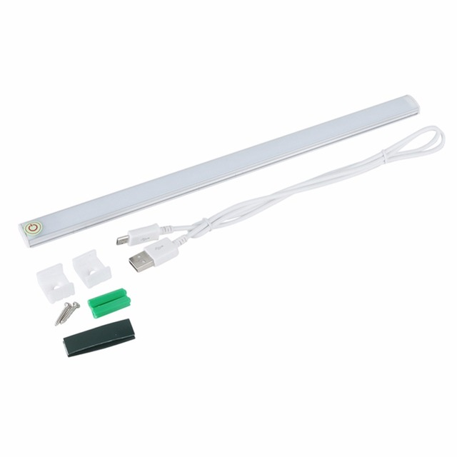 LED Touch Sensor Kitchen Cabinet Light Lamp DC 5V Wardrobe Closet Showcase Bookshelf White USB Lamp With Touch Switch