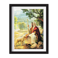 Full drill Diamond Painting Jesus Shepherd Figure Christianity Drilling Cross stitch Catholic Cross Gods Love the World