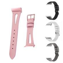 Bracelet de montre en cuir de remplacement bracelet de montre couche supérieure en peau de vache bracelet ouvert avec boucle en métal pour Fitbit Charge 3