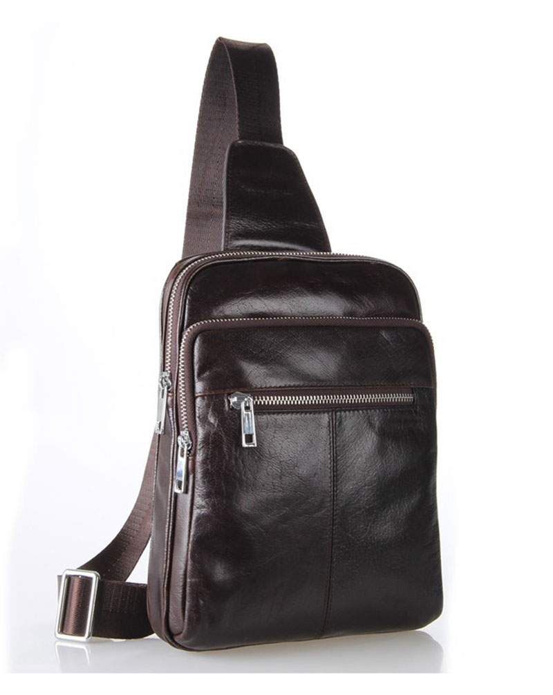 Vintage Cowhide Coffee Genuine Leather Men's Chest Pack Messeenger Crossbody Bag Sling Shoulder Strap Back pack # PR097216C new 7 texet tm 7076 x pad navi 7 1 3g tablet touch panel digitizer touch screen glass sensor replacement free shipping
