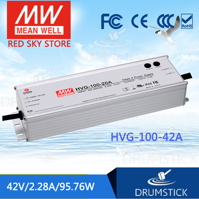 best-selling MEAN WELL HVG-100-42A 42V 2.28A meanwell HVG-100 42V 95.76W Single Output LED Driver Power Supply A type 1mean well original hvg 100 15a 15v 5a meanwell hvg 100 15v 75w single output led driver power supply a type