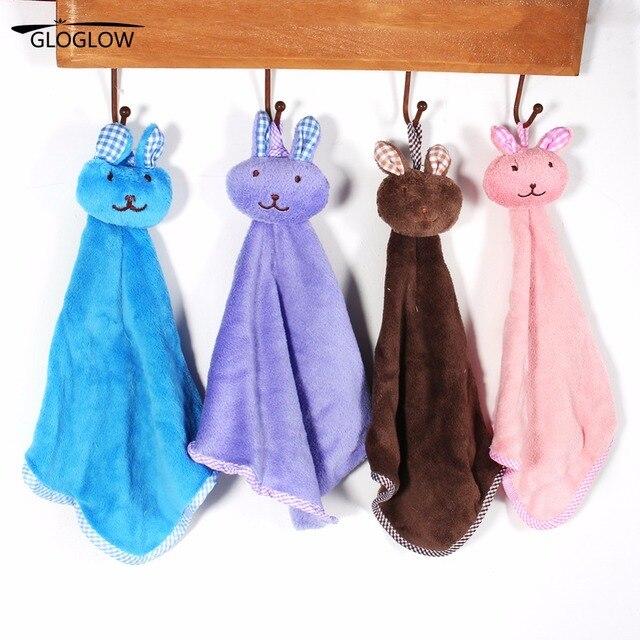 Charming 1PC Candy Color Soft Velvet Microfiber Kitchen Hand Towel Folding Hanging  Bathroom Bath Towel 41.5* Part 20