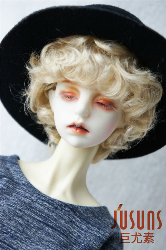 JD219 1/3 SD Doll Wig  Synthetic Mohair Wig 8-9 Inch Cupid BJD Hair Doll Accessories