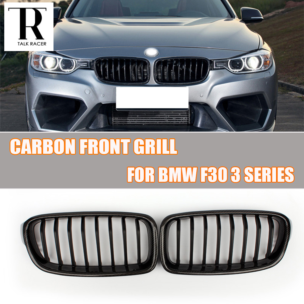 F30 carbon abs black front grill grille for bmw f30 320i 328i 330i 335i 320d