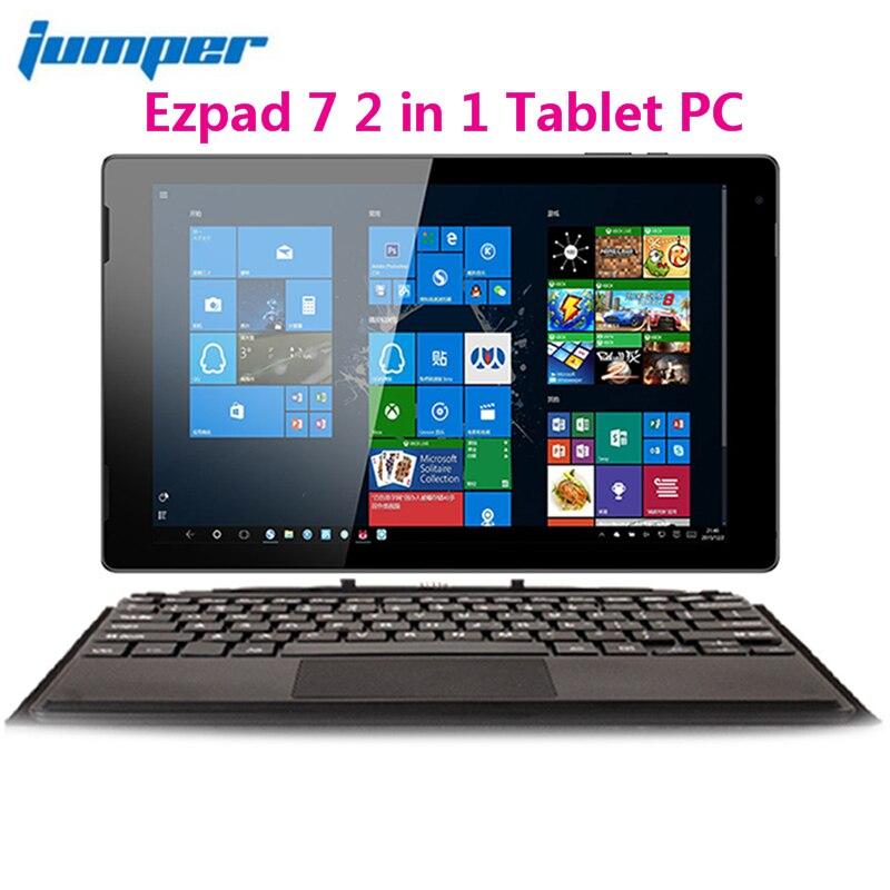 Jumper 2 em 1 7 EZpad Tablet PC 10.1 polegada Windows 10 Casa 64 bit Intel Cereja Z8350 Trilha Quad núcleo 64 4 GB RAM GB eMMC Mini HDMI
