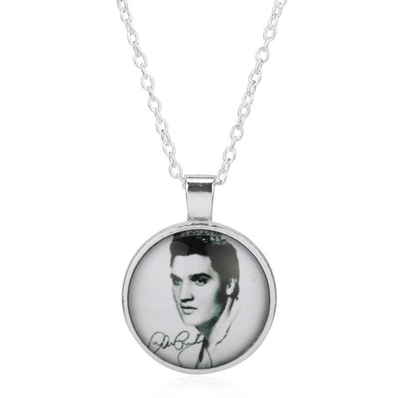 MOCHUN Aşk Elvis Presley cep saati Kolye Kadınlar Madalyon Kız Lady Antibrittle en rock n roll gümüş Erkekler Hediye -30