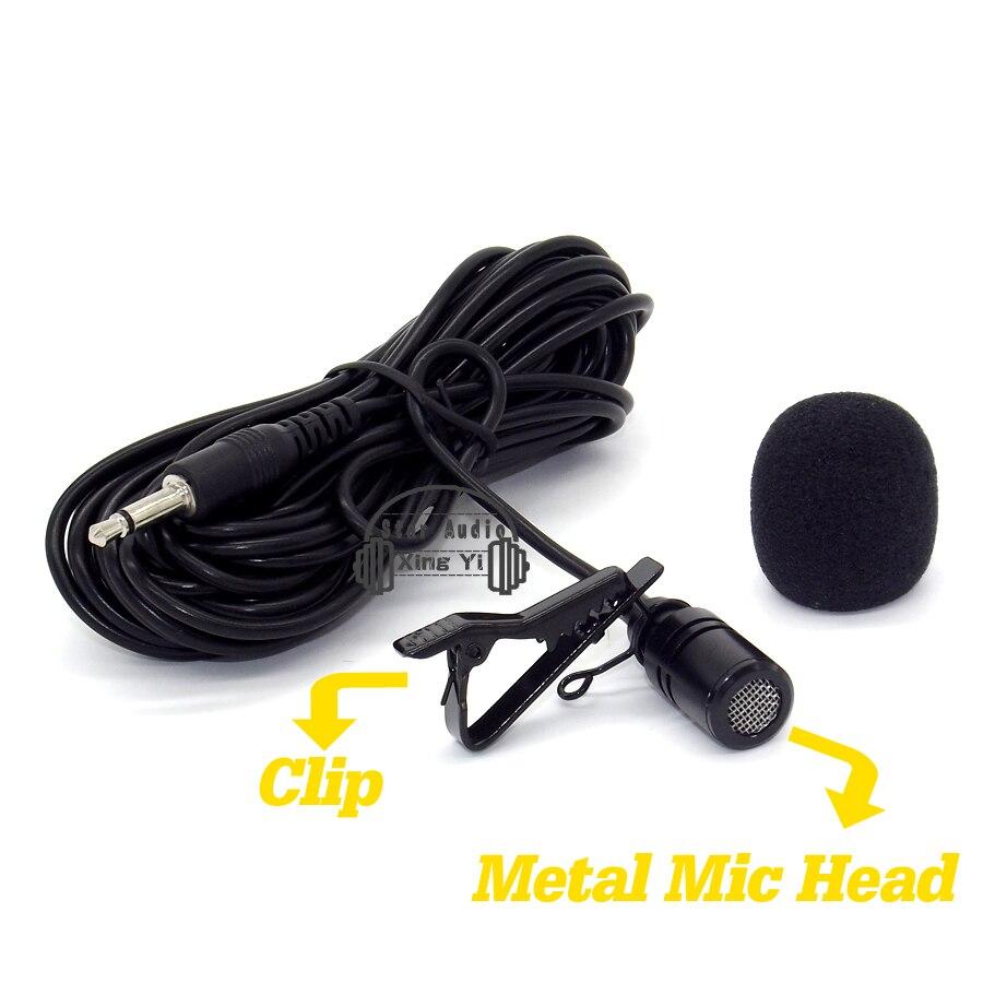 Зажим для галстука всенаправленный конденсаторный микрофон петличный микрофон для Усилители домашние Гитары Скрипки sax Флейта Пианино Виолончель Барабаны