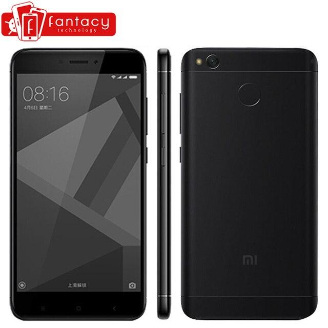 """Глобальная версия Xiaomi Redmi 4x3 ГБ 32 ГБ Смартфон Snapdragon 435 отпечатки пальцев ID FDD LTE 4 г 5 """"720 P MIUI 8.2 мобильный телефон"""