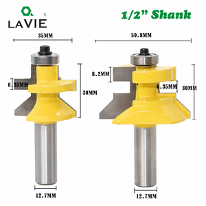 Image 2 - LAVIE 2pcs 12mm 1/2 Shank 120 Degree Router Bit Milling Cutter Frame Groove Tenon Woodworking Engraving Wood Milling Set 03004