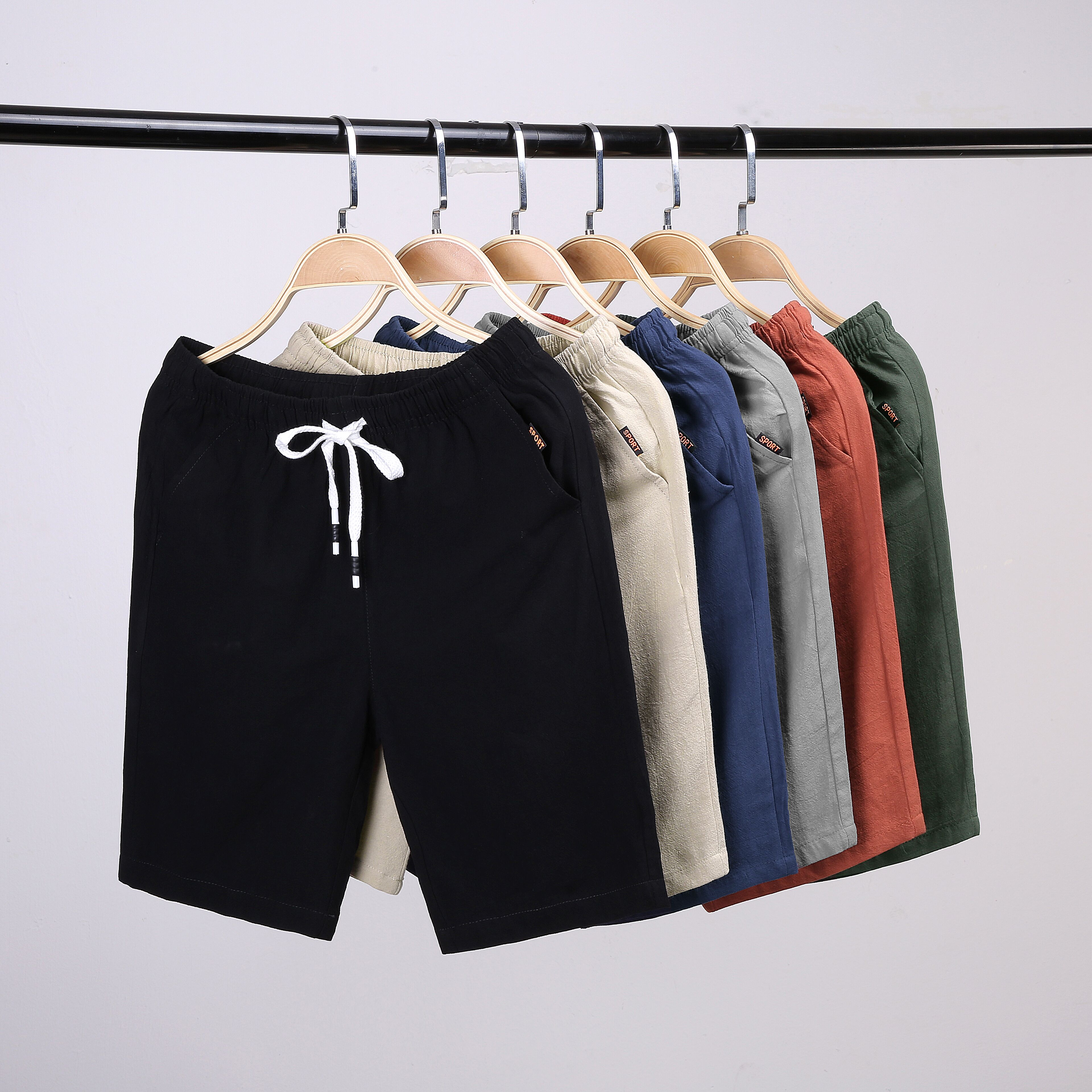 2020 Woodvoice Casual Shorts Men Clothes Summer Casual Men's Shorts Homme Cotton Bermuda Short Trousers Brand Clothing Puls Size