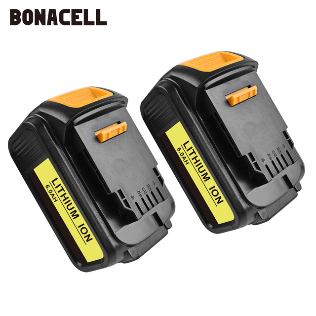 Bonacell For DeWalt 18V 6000mAh Battery Power Tools Batteries Replacement MAX XR DCB181 DCB182 DCD780 DCD785 DCD795 L70