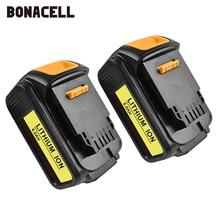 Bonacell Per DeWalt 18V 6000mAh Batteria Utensili Elettrici Batterie di Ricambio MAX XR DCB181 DCB182 DCD780 DCD785 DCD795 L70