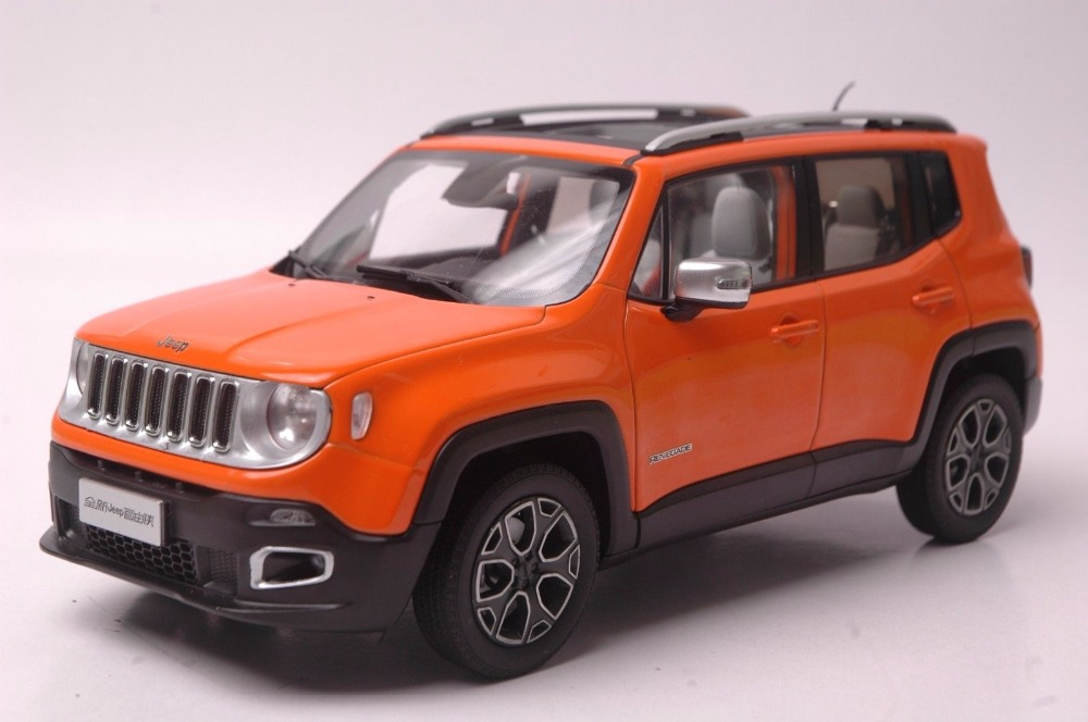 1:18 Diecast Model for Jeep Renegade 2016 Orange SUV Alloy Toy Car Miniature Collection Gift 1 18 vw volkswagen teramont suv diecast metal suv car model toy gift hobby collection silver